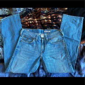 True religion light blue jeans 34x34 Ricky Mens